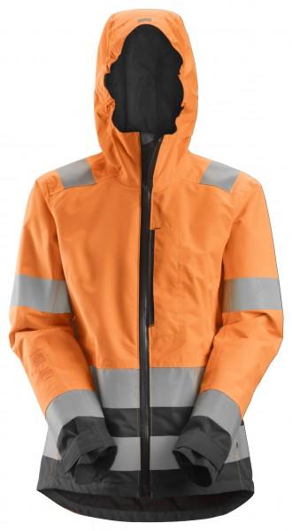 AllroundWork, Wasserdichte High-Vis-Softshell-Jacke für Damen, Warnschutzklasse 2/3