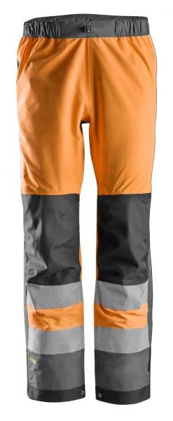 AllroundWork, Wasserdichte High-Vis-Softshell-Arbeitshose, Warnschutzklasse 2