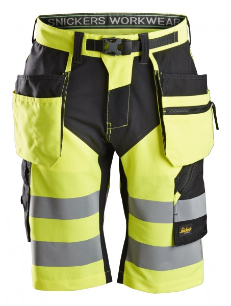 FlexiWork, High-Vis Shorts+ Holstertaschen, Klasse 1