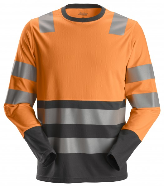AllroundWork, High-Vis-Langarm-T-Shirt Klasse 2
